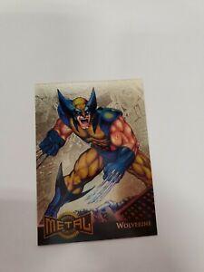 1995 Marvel Metal Card -gold blaster wolverine 18