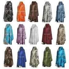 Reversible Jacquard Pashmina & Silk Shawl/Wrap/Scarf