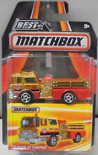 KKar Matchbox - 2016 Best of Matchbox - 1975 Mack CF Pumper - Gold & Red