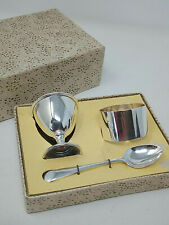 Vintage Boxed Silver Plated EPNS Egg Cup & Spoon Three Piece Set