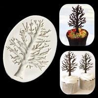 3D Tree Silicone Fondant Mold Cake Decorating Chocolate Baking Mould U