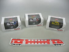 AI601-0,5# 3x Herpa H0 PKW: Renault Clio Cup 93+Mercedes MB 190 DTM 93, NEUW+OVP