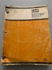 Case Model 35 Loader Amp Backhoe For 580ck Series B Tractor Parts Catalog Vintage