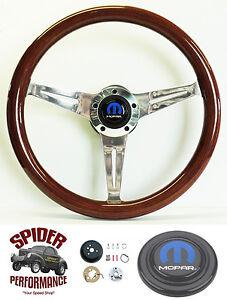"""1968-1969 Dodge steering wheel MOPAR 14 1/2"""" MAHOGANY"""