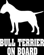 English bull terrier On Board Car Sticker silhouette vinyl decal window Dog uk
