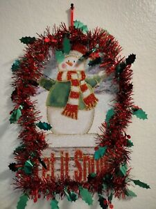 Santa's / Snowman Wall / Door Decoration Handmade