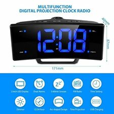 Pictek Projection Alarm Clock LED Digital FM Clock Radio USB Charging