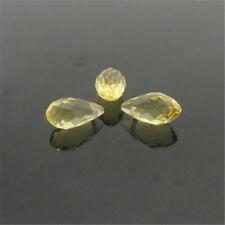 Crystal With H 00006000 ole Teardrop Glass Beads Diy10Pcs 6X12Mm Yellow Oval Faceted Czech