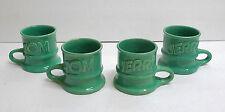 Tom & Jerry Vintage Mugs Set of 4 Garden City Pottery