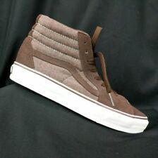 Vans mens 9 Off The Wall brown suede high top skate board shoes womans 10.5