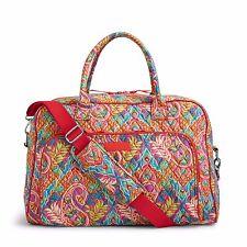 NWT Vera Bradley Weekender Travel, Carry On Bag in Paisley in Paradise print