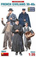 MiniArt 38037 1/35 Resin Heads French Civilians 30-40s