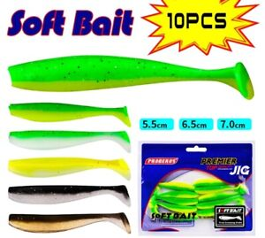 High Quality 10Pcs/Lot  55mm Silicone Jig Wobbler Artificial Soft Fishing Lures