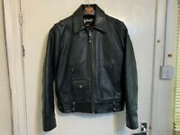 VINTAGE SCHOTT NYC HEAVY LEATHER PERFECTO MOTORCYCLE JACKET SIZE L