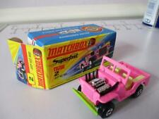 Lesney Matchbox Superfast 2 Jeep Hot Rod Pink Body Boxed