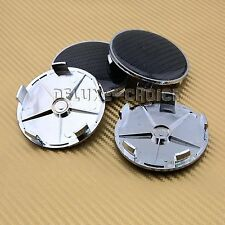 Universal 4pcs silver replacement logo for wheel cap hub cover emblem center