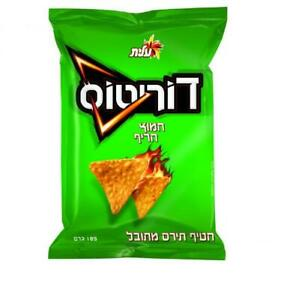 Doritos Nachos Style Corn Snack Sour & Hot Flavored Kosher By Elite Israel 185g