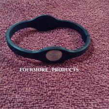 Large Power Balance Energy Health Band Bracelet Black With Black Letters New !!
