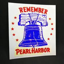Remember Pearl Harbor, Vintage Style WWII Decal, Vinyl Sticker