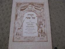 1753 Oxford HAGGADAH Reprint Facsimile book hagada Cecil Roth