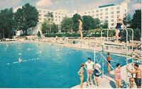 Postcard NY Concord Hotel Catskills Chrome Exterior Pool Diving Board VTG