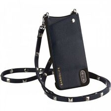 BANDOLIER SARAH Navy 8 / 7 / 6  for iPhone - Leather case / silver stud strap