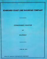 1974 Seaboard Coast Line Railroad Condensed Roster of Equipment. Locomotives Car