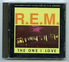R.E.M./The One I Love plus 2 Live Tracks (UK)