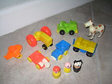 10 Vintage Fisher Price Little People Family Farm Barn 915 Vehicles Animal Lot