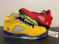"""Air Jordan 5 Retro V """"WHAT THE"""" Multi-Color CZ5725-700 Men & GS Size 3-14"""