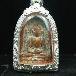 Rare Antique Ancient Siam Sum Kor,Thai Buddha Amulet Pendant 2