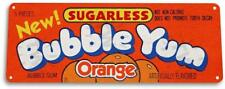 Orange Bubble Yum Gum Sign Retro Food Candy Metal Decor