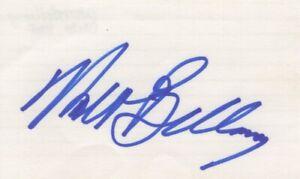 Walt Bellamy - NBA Great, Basketball Hall of Fame - Autographed 3x5 Card