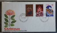 1982 NEW ZEALAND CHRISTMAS SET OF 3 STAMPS FDC FIRST DAY COVER