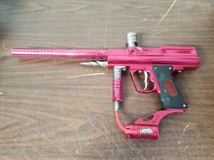WDP Angel Lcd Paintball Marker Red Gun Untested No Charger