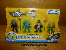 Imaginext DC Super Friends 5 Pack Black Manta Aquaman Shark Killer Croc Batman