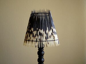 Bedside Porcupine Quill Lampshade excluding stand 30% off SUMMER SALE !!