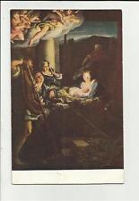 cartolina antica correggio la notte di natale antonio allegri formato piccolo