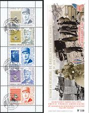 """DEB12-3C Carnet Porte-timbres privé """"68 ans Retour DE GAULLE en France"""" 2012"""