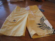 Men's Billabong board shorts RN99064 yellow 28 NEW NWT surf swim