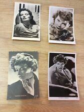 Katharine Hepburn - 4 alte Starpostkarten