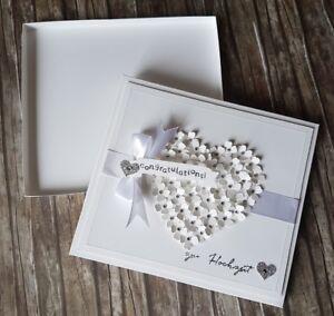 Geschenkschachtel Geschenkbox Geschenkverpackung, Glückwunschkarte zur Hochzeit