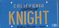 William Daniels David Hasselhoff Auto Signed Knight Rider License Plate Beckett