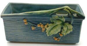 Roseville Pottery Blue Bushberry Window Box Planter 383-6