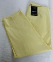 M&S Collection Sizes 10 12 Cotton Stretch Tapered Crop Cropped Trousers Yellow