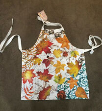 Michel Design Works Fall Symphony Autumn Leaves Kitchen Chef Apron