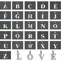 """Edelstahl Kette Anhänger mit Buchstabe Alphabet """"A-Z"""" Anhänger charm Geschenk"""