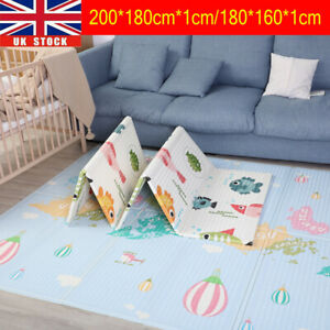Baby Folding Play Mat Large Foam Playmat Crawl Reversible Waterproof Portable UK