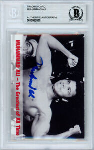 Muhammad Ali Autographed Signed 1994 Collectors Edge Card Beckett BAS #10982650