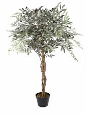 Artificial Potted Olive Tree Realistic Decorative Home Decor Indoor Conservatory